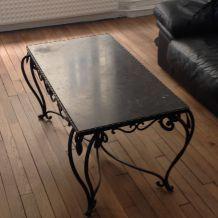 TABLE BASSE EN FONTE