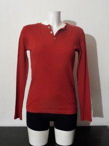 Tee Shirt En Coton Bio Équitable Rouge- Taille S- Neuf- Monoprix