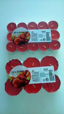 Bougies fraise