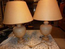 2 lampes terre cuite
