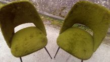 chaises des annees 70 kaki