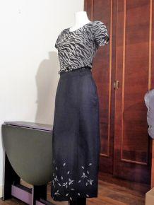 Jupe Longue Noir- Taille 36- Tricobel