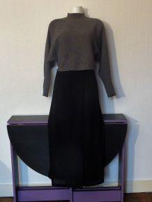 Pantalon Jupe Noir- Jacqueline Riu