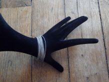 LOT de 16 bracelets élastiqués gris mat