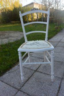 chaise napoléon III grise