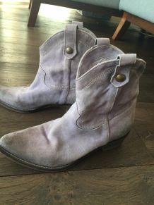 Bottes courtes cuir  simply dressing