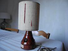 Lampe Vintage Poterie Abat-jour tissé