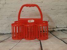 Porte bouteilles Curver vintage en plastique orange n°1