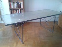 Table Bureau Design (verre & métal)