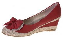 Ballerines rouge compensees
