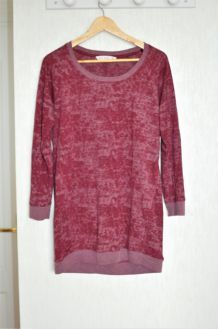 Sweat fin bordeaux chiné New Look - M