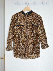 Chemise fluide imprimée léopard - Taille M