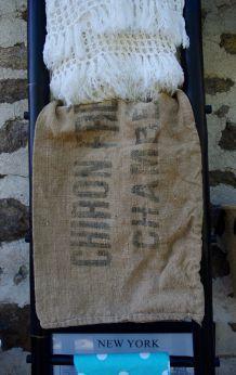 Ancien sac en toile de jute CHIRON Frères