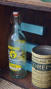 Bouteille limonade vintage Phénix jaune