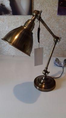 Lampe en bronze industrielle