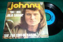 JOHNNY HALLYDAY 45 TOURS ma jolie sarah
