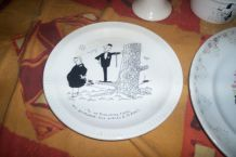 ASSIETTE JACQUES FAIZANT ILLUSTRATEUR