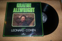 DISQUE 33 TOURS GRAEME ALLWRIGHT chante leonard cohen