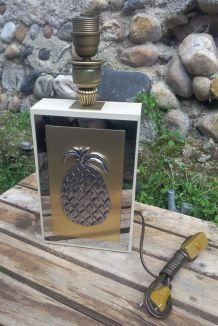 pied de lampe - ananas - rétro