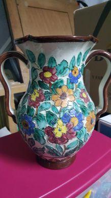 Ancien gros vase ceramique cerart monaco