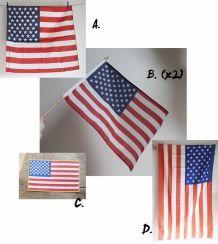lot de 5 drapeaux des Etats-Unis