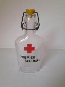 """bouteille ancienne """"premier secours"""""""