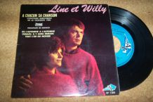 DISQUE 45 TOURS 4 TITRES LINE ET WILLY annees 60