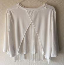 Tshirt blanc Asos à dos ouvert