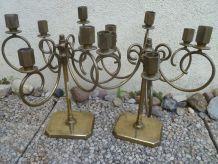 chandeliers  6 branches  en laiton, vintages