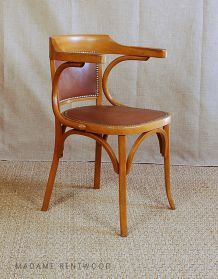 chaise vintage scandinave blanche et bois pas cher luckyfind. Black Bedroom Furniture Sets. Home Design Ideas