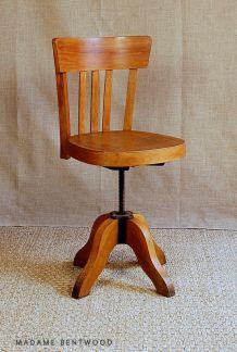 Chaise bureau atelier tournant Fischel ou Stella années 40/50