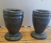 Paire de vase  en granit