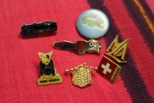 lot pin's badges vintage retro