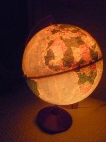 mappemonde lampe electrique