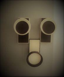 Magnets Rondes Années 70 - Marron et Beige