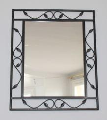 Miroir mural en fer forgé- Conforama