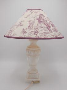 Lampe avec pied en albâtre