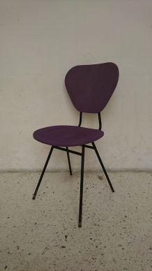 Chaise  de type Jacques Hitier violette