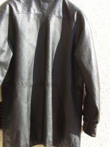 Blouson FEMME en cuir vintage - noire - Taille 44 - C0004