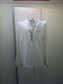 Blouse manches longues blanche taille 34 Massimo Dutti