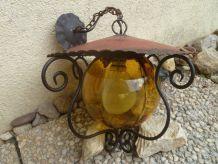 lanterne a chapeau en métal ,  vintage