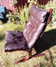 Fauteuil Design Siesta en cuir marron par Ingmar Anton RELLING