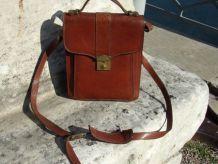 Sacoche homme Vintage Cuir Marron  - C0011