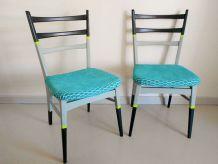 Paire de chaises vintages relookées