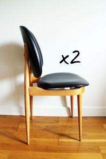 Paire de chaises design Pierre Guariche