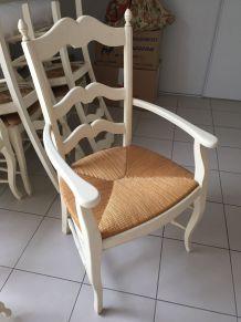 Lot de 6 chaises et 2 fauteuils provençaux