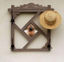 Edouard : vestiaire miroir en bois revisité