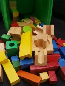Jeu de construction en bois