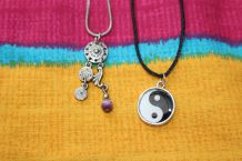 lot collier bijoux yin yang attrape rêve étoile fantaisie