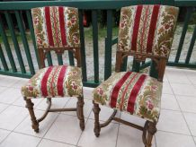 2 Chaises Louis XIII